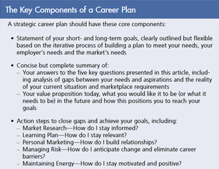 The Key Components of a Career Plan Table