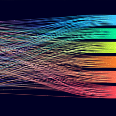 Abstraction of Colorful wires representing data
