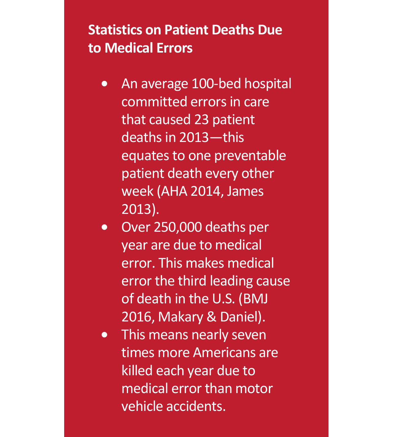 Statistics on Patient Deaths Due to Medical Errors